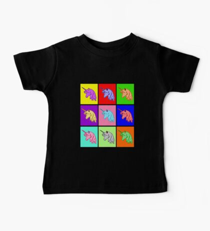 Pop Art Unicorn Baby Tee
