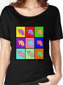 Pop Art Unicorn Women's Relaxed Fit T-Shirt