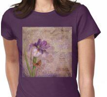 Ville de Paris French floral garden art Womens Fitted T-Shirt