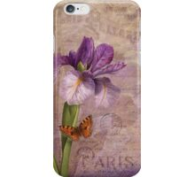 Ville de Paris French floral garden art iPhone Case/Skin