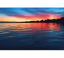 River Sunset Photographic Print