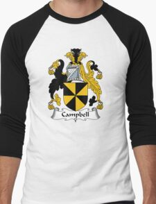 Campbell Coat of Arms / Campbell Family Crest Men's Baseball ¾ T-Shirt