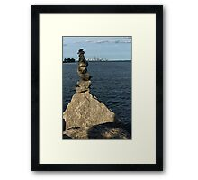 Toronto's CN Tower Sculpted From Natural Stones Framed Print