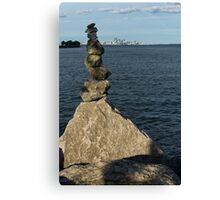 Toronto's CN Tower Sculpted From Natural Stones Canvas Print