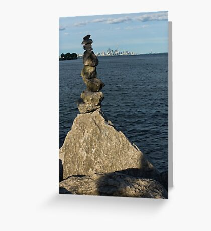Toronto's CN Tower Sculpted From Natural Stones Greeting Card