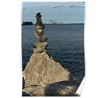 Toronto's CN Tower Sculpted From Natural Stones Poster