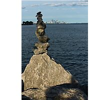 Toronto's CN Tower Sculpted From Natural Stones Photographic Print