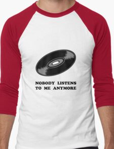 Nobody Listens Vinyl Men's Baseball ¾ T-Shirt