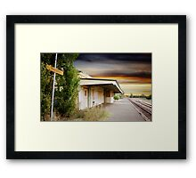 Red Cliffs Station Framed Print