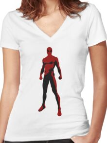 WebMan Women's Fitted V-Neck T-Shirt