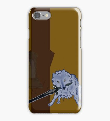 Great Grey Wolf Sif and Artorias iPhone Case/Skin