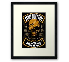 Sagat Muay Thai Fighter  Thailand Martial Art Framed Print