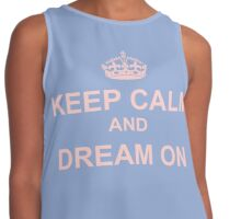 Color of the Year 2016 - Rose Quartz and Serenity - Keep Calm Contrast Tank
