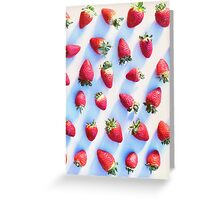 Sunset Strawberries Greeting Card