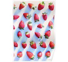 Sunset Strawberries Poster