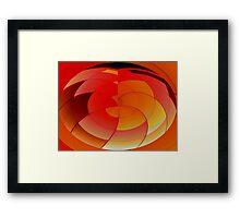 Orange & Yellow Framed Print