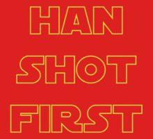 Han Shot First Kids Tee