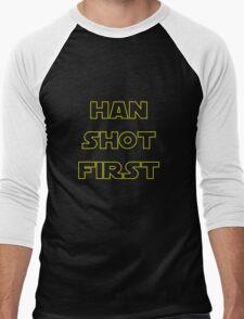 Han Shot First Men's Baseball ¾ T-Shirt