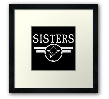 """The Sisters Of Mercy - The Worlds End - """"Sisters"""" New Logo Framed Print"""