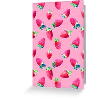 Pink Strawberry Pop Greeting Card