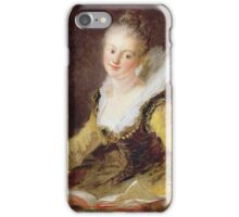 Jean-Honore Fragonard - The Study, Or The Song. Woman portrait: sensual woman, girly art, female style, pretty women, femine, beautiful dress, cute, creativity, love, sexy lady, erotic pose iPhone Case/Skin
