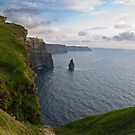 Cliffs Of Moher, Sunset, County Clare, Ireland by Noel Moore Up The Banner Photography