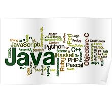 programming languages cloud Poster
