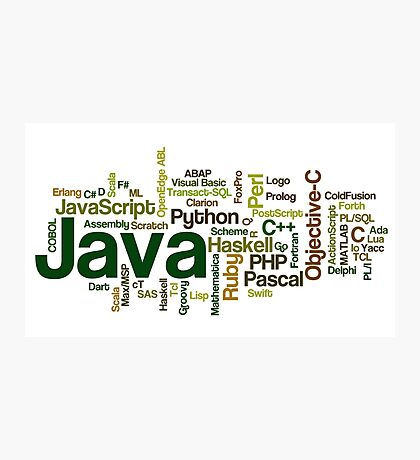 programming languages cloud Photographic Print