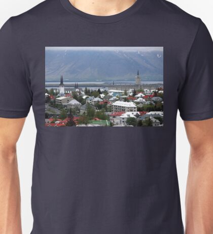 Reykjavik from Above Unisex T-Shirt