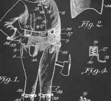 Firefighter Uniform Patent 1905 Sticker