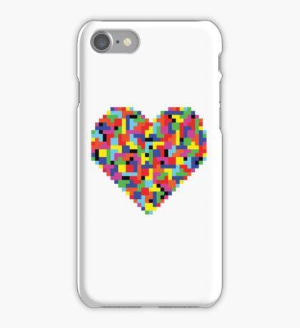 Colorful Tetris Heart iPhone Case/Skin