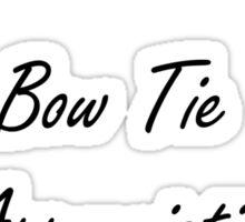 BowTie Appreciation Society (Black) Sticker