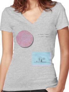 Julia Brown an abundance of strawberries  Women's Fitted V-Neck T-Shirt