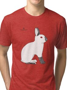 Himalayan Agouti (Chinchilla) Rabbit Tri-blend T-Shirt