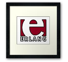 erlang programming language Framed Print