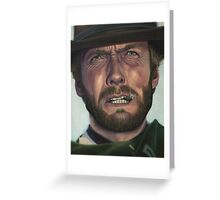 Clint Eastwood- The Man with No Name Greeting Card
