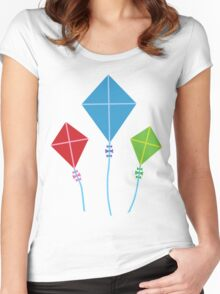 Vintage Kites Women's Fitted Scoop T-Shirt