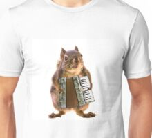 Squirrel Playing an Accordion Unisex T-Shirt