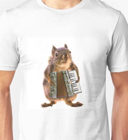 Squirrel Playing an Accordion Unisex T-Shirt