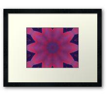 Pink Star Framed Print