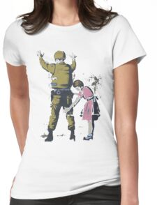 Banksy West Bank  Womens Fitted T-Shirt