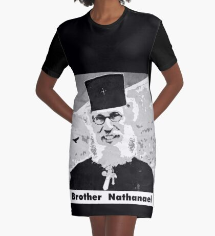 Brother Nathanael with Title Graphic T-Shirt Dress