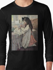 Jessie Willcox Smith - I Love My Doll. Child portrait: cute baby, kid, children, pretty angel, child, kids, lovely family, boys and girls, boy and girl, mom mum mammy mam, childhood Long Sleeve T-Shirt