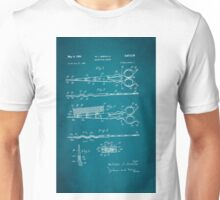 Vintage Hair Cutting Scissors Patent 1954 Unisex T-Shirt