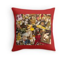 James Dean, Jack Nicholson, Three Stooges Throw Pillow