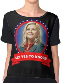 'Say Yes To Knope!', Leslie Knope - Parks & Recreation Chiffon Top