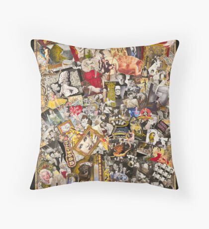 Marilyn Monroe, Charlie Chaplin, Mae West Throw Pillow