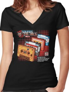 Sounds Of The 80s Vol.2 Women's Fitted V-Neck T-Shirt