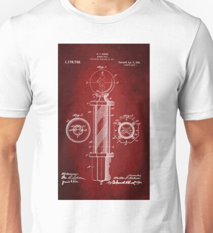 Barber Pole Patent 1916 Unisex T-Shirt