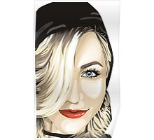 Julianne Hough Cartoonized  Poster